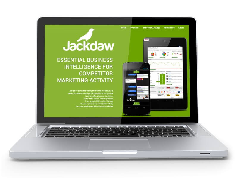 Jackdaw: SEO, PPC & Web Intelligence Tracking Software Brief Image